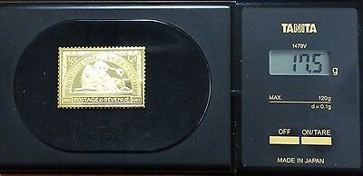 The empire collection gold plated silver stamp .925 - New Zealand 17.5 grams