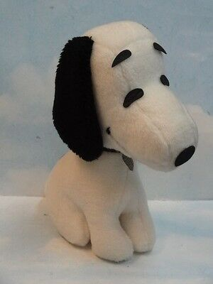 "RARE Vintage 12"" Determined Productions Stuffed Snoopy w/Collar 1968 UFS"