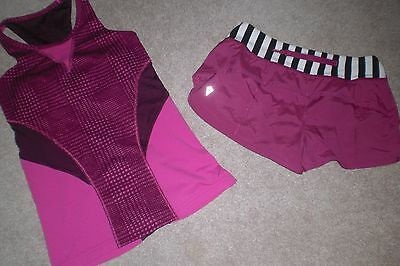 Lot of Girls Ivivva by Lululemon Shorts and Tank Top sz 8