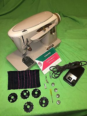 Vintage Singer Sewing Machine 503 A heavy Duty W / BOOK