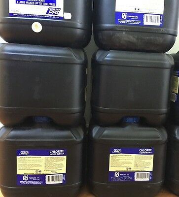 Peerless Pro Bleach  BULK LOT OF  6 X 15 Litre  Liquid Bleach Chlorite  $50