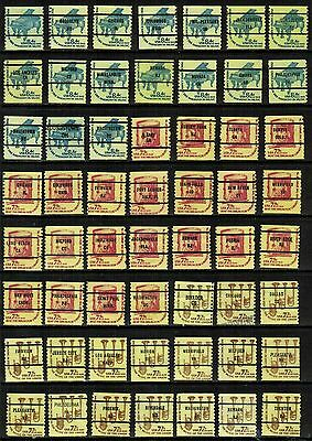 United States Precancels on 1976-78 Fractional Coils (56 diff), F/VF