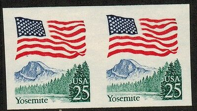 United States #2280c,1988 25¢ US Flag Coil IMPERF pair, NH VF (Sc $ 10 US)