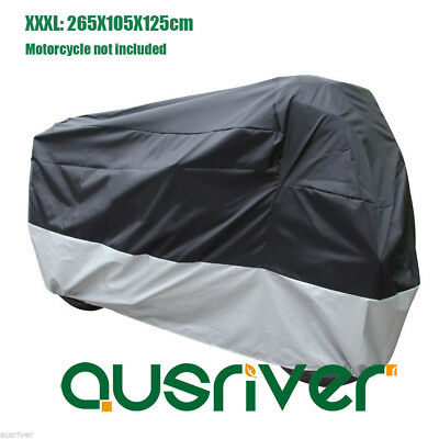 New Large Waterproof Motorcycle Cover Windproof Clip for Honda 3XL 265x105x125cm