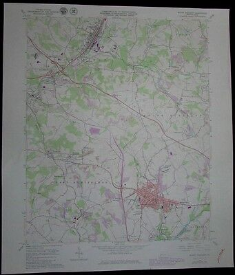 Mount Pleasant Pennsylvania Hempfield Youngwood vintage 1980 old USGS Topo chart