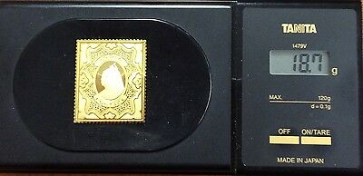 The empire collection gold plated silver stamp .925 - India 18.7 grams