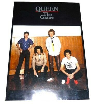 Queen Poster The Game 1980 Japan Promo  Original Freddie Mercury Brian May Rare
