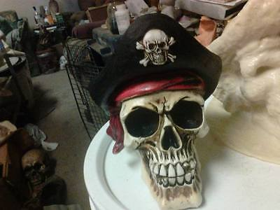 Pirate Skull Mold Latex for Concrete , Plaster even Wax