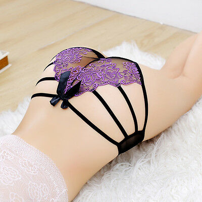 Women Lady Sexy Lace G-string Briefs Panties Thongs Lingerie Underwear Knickers