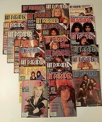 Hit Parader 24 Magazine Lot