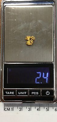 Australian Natural Gold Nugget 2.4 grams  approx weight .