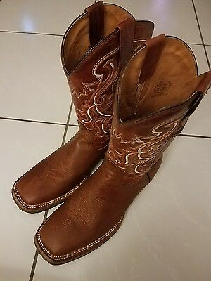 Tombstone Cowboy Boots Blue Square Toe Size 9.5US