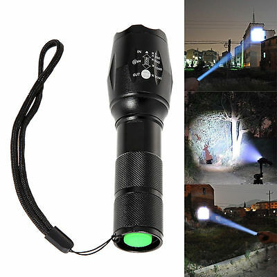 2200LM UltraFire CREE XM-L2 T6 LED ZOOMABLE ZOOM 18650 Flashlight Torch Lamp NEW
