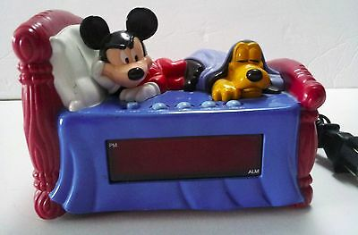 Mickey Mouse and Pluto Electric Digital Alarm Clock Collectible