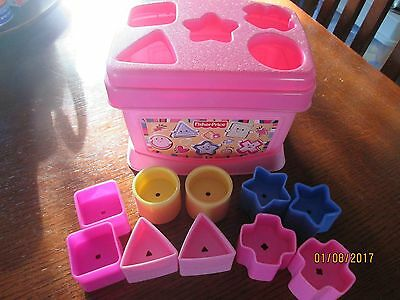 Fisher Price Baby's First Blocks Pink Shape Sorter EUC Complete
