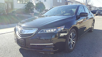 2015 Acura TLX Base Sedan 4-Door 2015 ACURA TLX SEDAN 2.4L SUNROOF LEATHER SALVAGE  FIXED XENON LOADED NO RESERVE
