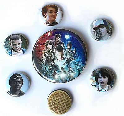 Stanger Things Button Set, Stranger Things Pin pack, Netflix Stranger Things