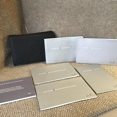 2012 Infiniti QX Owners Manual w/ Navigation and reference guides and case