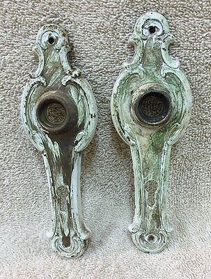 Pr Antique Chippy Shabby Chic Door Knob Back Plates Crafts Projects Steampunk