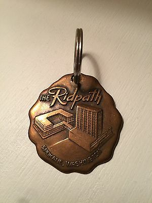 Vintage Ridpath Hotel Key Fob Chain Spokane WA Washington