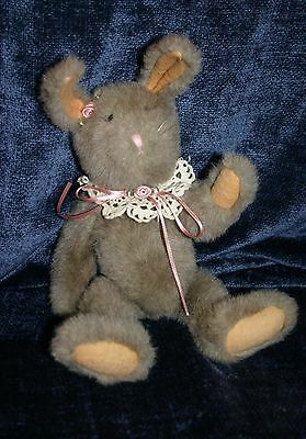 Boyds Bear Lacy Hare Tan 14 inches 1990 Rabbit White tag