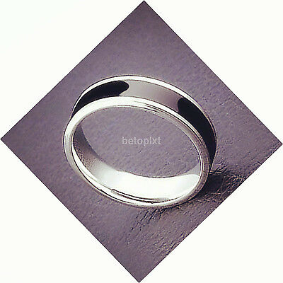 Hot Sales 10g Stainless Steel Cool Men Jewelry Black Ring Band Titanium FR