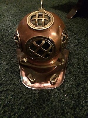 Old Mini Diving Helmet Solid Brass And Copper