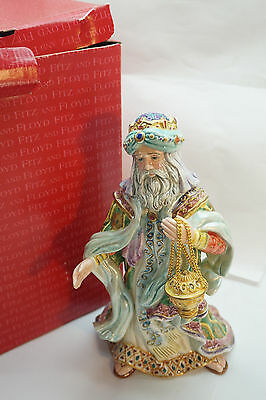 Fitz And Floyd Nativity Figurine Arabian Wise Man Christmas Figure New In Box