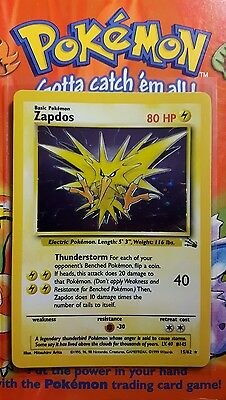 Pokemon Fossil Zapdos 15/62 Rare Holo In Mint Condition See Pictures!