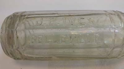 Rare  J.B Ives Belleville ,ont bottle  soda  beer