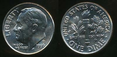United States, 1996-P Dime, Roosevelt - Uncirculated