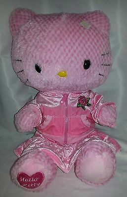 Sanrio Hello Kitty Pink Checkered Push Doll Hoodie & Skirt Build a Bear Workshop