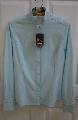 Noble Outfitters Madison Women's Show Shirt, Powder Blue, Size Small, NWT