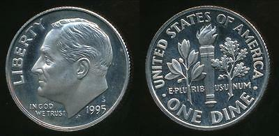 United States, 1995-S Dime, Roosevelt - Proof