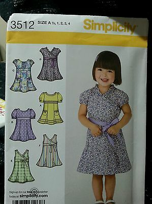 Simplicity- Girls toddler dress Pattern-#3512