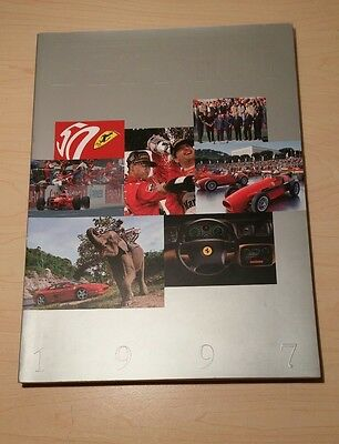 Original Ferrari 1997 Factory Yearbook Annual Book Brochure with Autograph