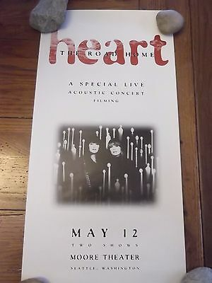 HEART 1995 MOORE THEATER  SEATTLE CONCERT POSTER 12x24