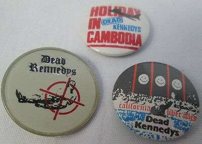 The Dead Kennedys 2 X Vintage Early 1980s Badges Pin Button Punk New Wave