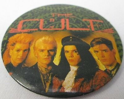 The Cult Vintage Large Mid-1980s Badge Pin Button Punk New Wave