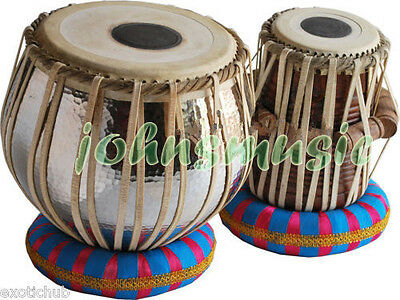 Concert Quality Tabla:Drums-5 Kg Bayan-BRASS Sheesham Wood Dayan-Prc Ehs