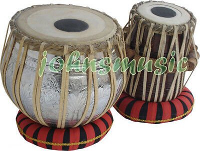 Tabla Drum Set-GANESHJI Designer_Brass_2.5 Kg:Bayan-Sheesham Dayan- Professional
