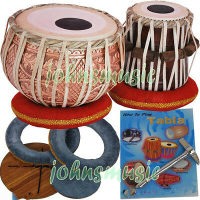 "Tabla Drums Set-Designer_Copper 2.5Kg""Bayan-Sheesham""Dayan- Professional_Quality"