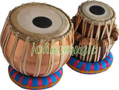 "Tabla Drums""Set-Concert_Quality-Hammered""Copper Bayan 5 Kg-Sheesham Wood Dayan"