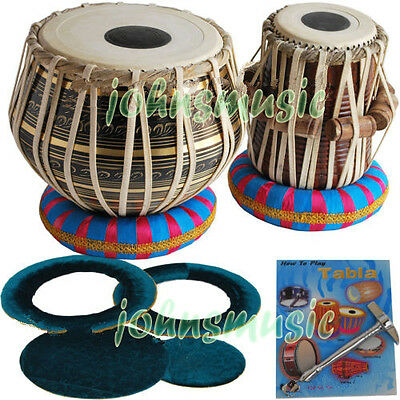 "Tabla Drums Set~2.5 Kg""brass-Black Bayan~Dayan~Free!!! Gig Bag ~Tuning Hammer"
