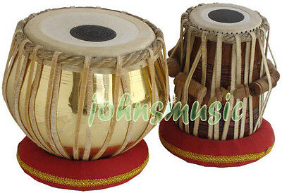 Tabla Set~2.5 Kg_Brass Bayan~Dayan~Free!!! Gig Bag~Cushion~Tuning Hammer