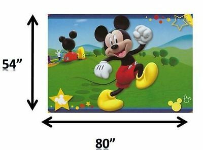 "Disney Mickey Mouse Clubhouse 54""x80"" Extra Soft Non-Slip Area Rug Kids Play Mat"
