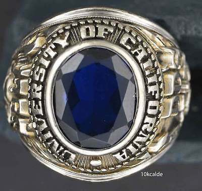 10kcald,  Fabulous 10K white gold Univ of California  Dentistry 1963 Class Ring