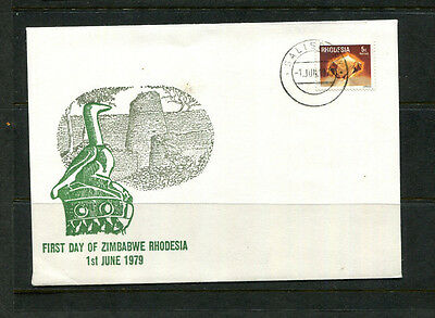 Rhodesia Africa 1979 'first Day Of Zimbabwe Rhodesia' Commemorative Stamp Cover