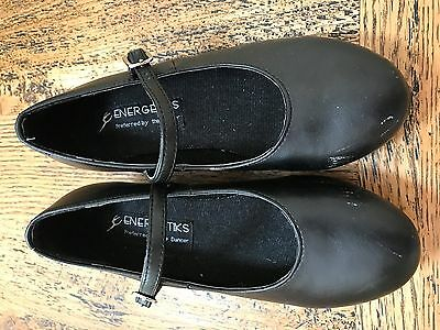 Girl's Energetiks Black Tap Shoes in size 13.5