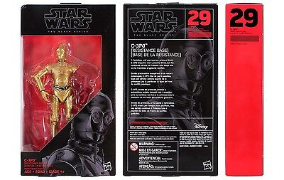 Star Wars Black Series 6 inch #29 C-3PO (Resistance Base) 2016. Brand new